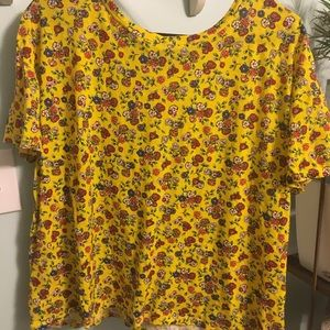 Zara Yellow Short Sleeve Top